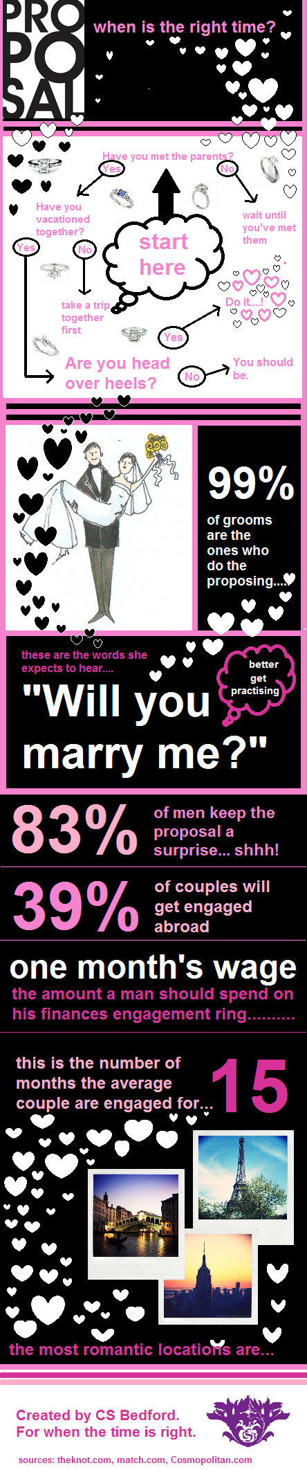 Engagement and Wedding Infographic
